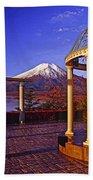 Mount Fuji In Autumn Beach Towel
