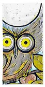 Owl Midnight Beach Towel