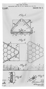 Pool Table Triangle Patent From 1915 Beach Towel