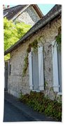 Street Scenes From Giverny France Beach Towel