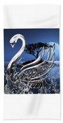 Swan Art. Beach Towel