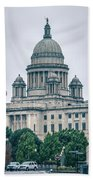 The Rhode Island State House On Capitol Hill In Providence Beach Sheet