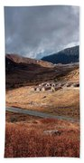 Top View Of Kupup Valley, Sikkim, Himalayan Mountain Range Beach Towel