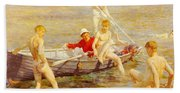 Tuke Henry Scott Ruby Gold And Malachite Henry Scott Tuke Beach Towel