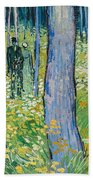 Undergrowth With Two Figures Beach Towel