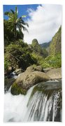 View Of Iao Needle Beach Towel