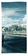 Westerly Is A Town On The Southwestern Shoreline Of Washington C Beach Towel