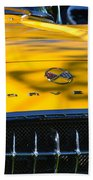 Yellow Corvette Beach Towel