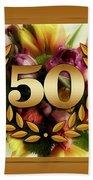 50th Anniversary Beach Towel