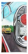 56 Chevy Reflections Beach Towel