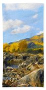 Nature Pictures Of Oil Paintings Landscape Beach Towel