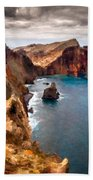 Oil Painting Landscapes Beach Towel