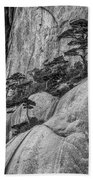 5867- Yellow Mountains Black And White Beach Towel