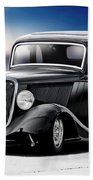 1934 Ford Five-window Coupe Beach Towel