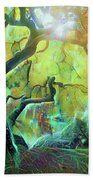 6 Abstract Japanese Maple Tree Beach Towel
