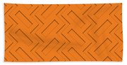 Abstract Orange, White And Red Pattern For Home Decoration Beach Sheet