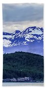 Alaska Nature And Mountain In June At Sunset Beach Towel