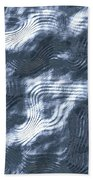 Alien Fluid Metal Beach Towel