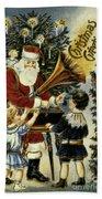 American Christmas Card Beach Towel