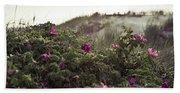Rose Bush And Dunes Beach Sheet