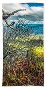 Beautiful Autumn Landscape In North Carolina Mountains Beach Towel