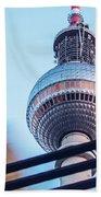 Berlin Tv Tower Beach Towel