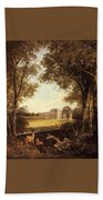 Boddington Henry John A View Of Norton Hall Henry John Boddington Beach Towel