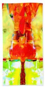 6 Candles Of Christmas Beach Towel