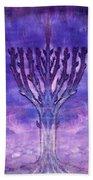 Chanukkah Lights Beach Towel