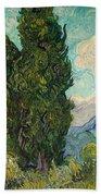 Cypresses Beach Towel