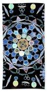 Diatoms Beach Towel by M I Walker