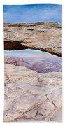 famous Mesa Arch in Canyonlands National Park Utah  USA Beach Towel