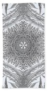 Fern Frost Mandala Beach Sheet