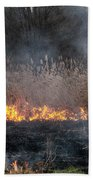 Fires Sunset Landscape Beach Towel