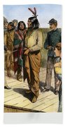Geronimo 1829-1909.  To License For Professional Use Visit Granger.com Beach Towel