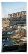La Valletta Old Town Fortifications Architecture Scenic View In  Beach Towel