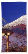 Mount Fuji In Autumn Beach Sheet