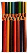 Multicolored Pencils  Beach Towel