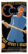 New Deal: Wpa Poster Beach Towel