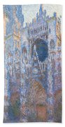 Rouen Cathedral, West Facade Beach Towel