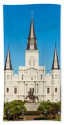 Saint Louis Cathedral Beach Towel