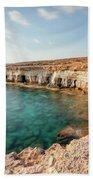 Sea Caves Ayia Napa - Cyprus Beach Towel