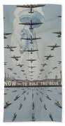 World War II Advertisement Beach Towel