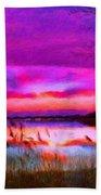 Landscape On Nature Beach Towel