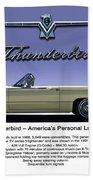 '66 Thunderbird Convertible Beach Towel