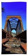 6696 Railroad Bridge Beach Towel