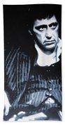 - Scarface - Beach Towel by Luis Ludzska