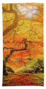 7 Abstract Japanese Maple Tree Beach Sheet