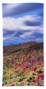 Beautiful Autumn Landscape In North Carolina Mountains Beach Towel