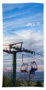 Beautiful Winter Landscape At Timberline West Virginia Beach Towel